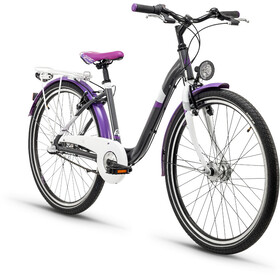 s'cool chiX 26 3-S - Vélo junior Enfant - steel gris/violet